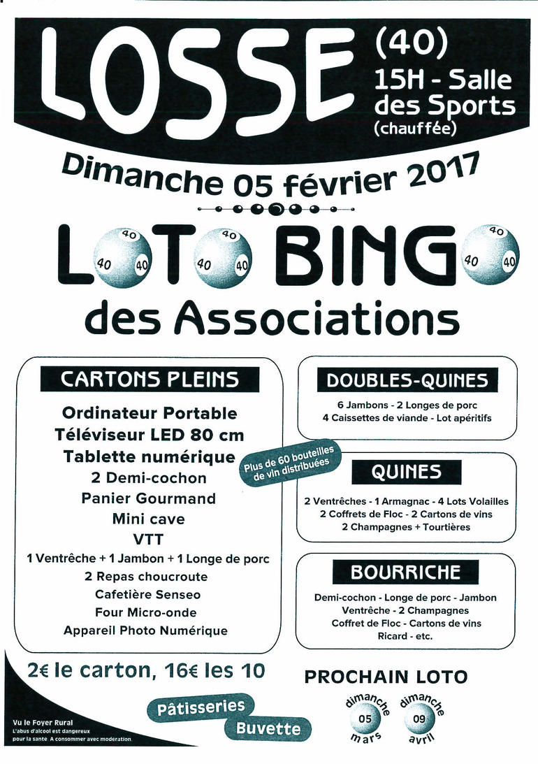 Loto Bingo des Associations